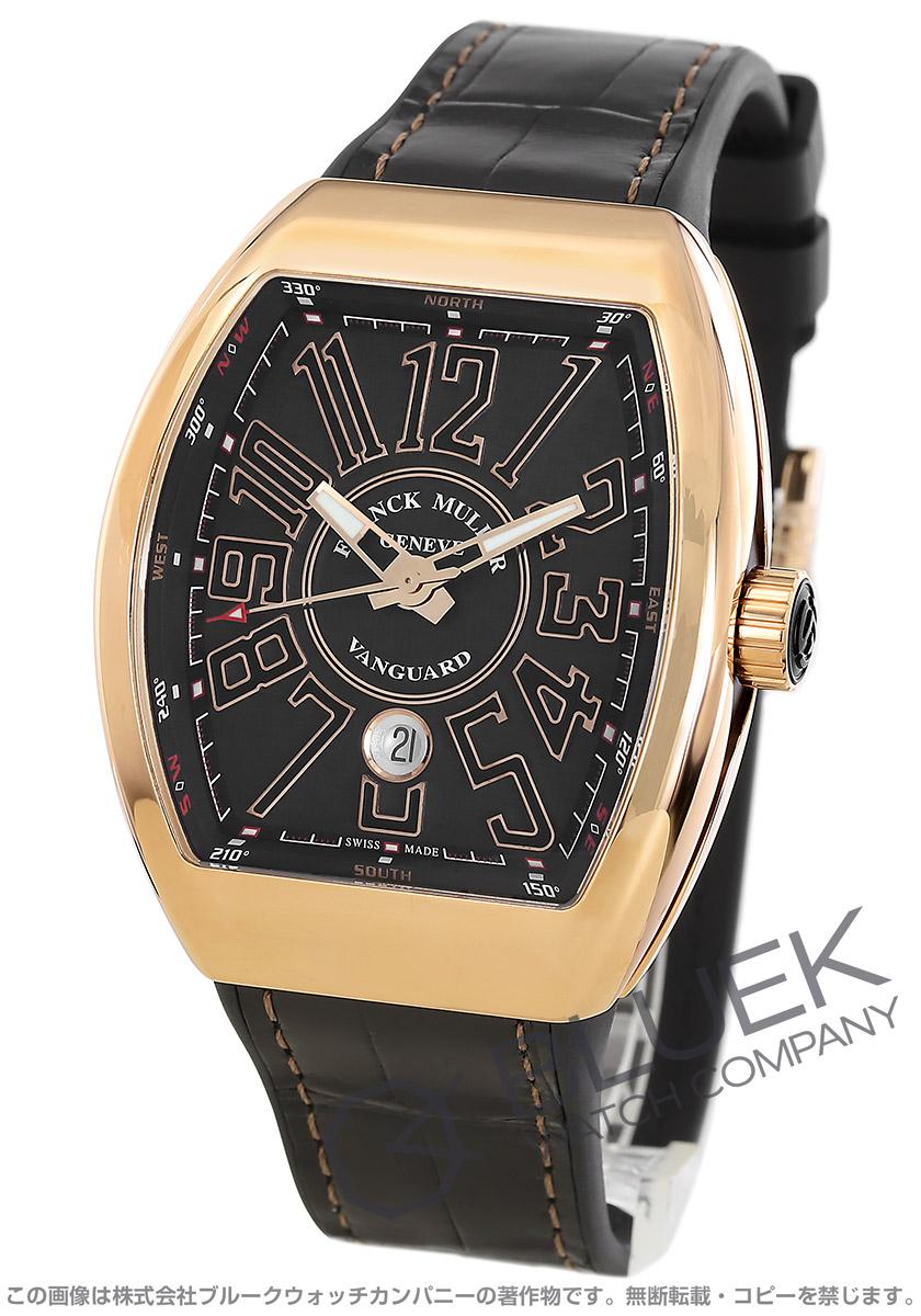 cebfb63031 フランクミュラー ヴァンガード PG金無垢 クロコレザー 腕時計 メンズ FRANCK MULLER V45 SC DT