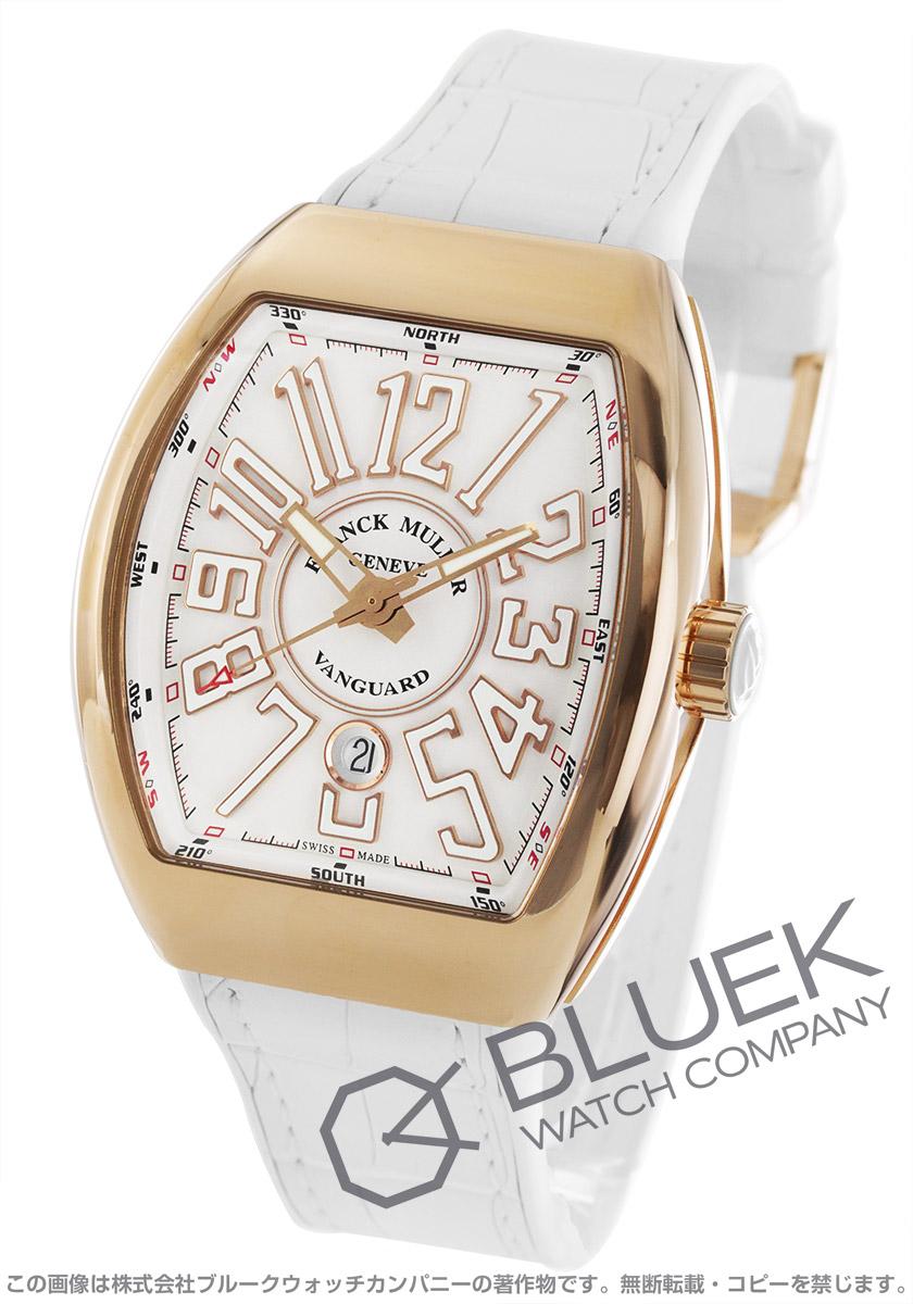 2daf0fe6da フランクミュラー ヴァンガード PG金無垢 クロコレザー 腕時計 メンズ FRANCK MULLER V 45 SC
