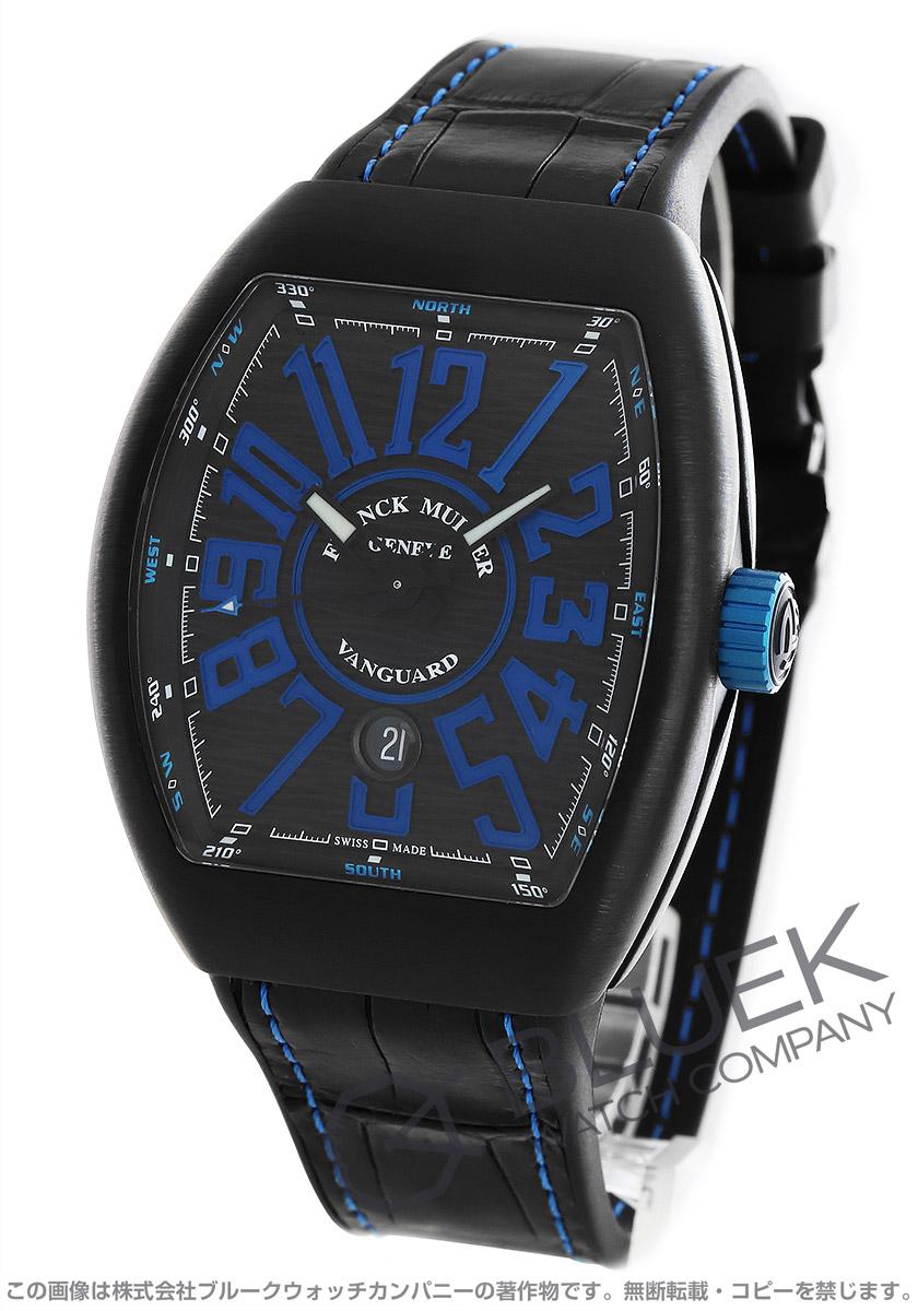 フランクミュラー ヴァンガード クロコレザー 腕時計 メンズ FRANCK MULLER V45 SC DT TT NR BR NR[FMV45SCTINRBKBLLZBK]