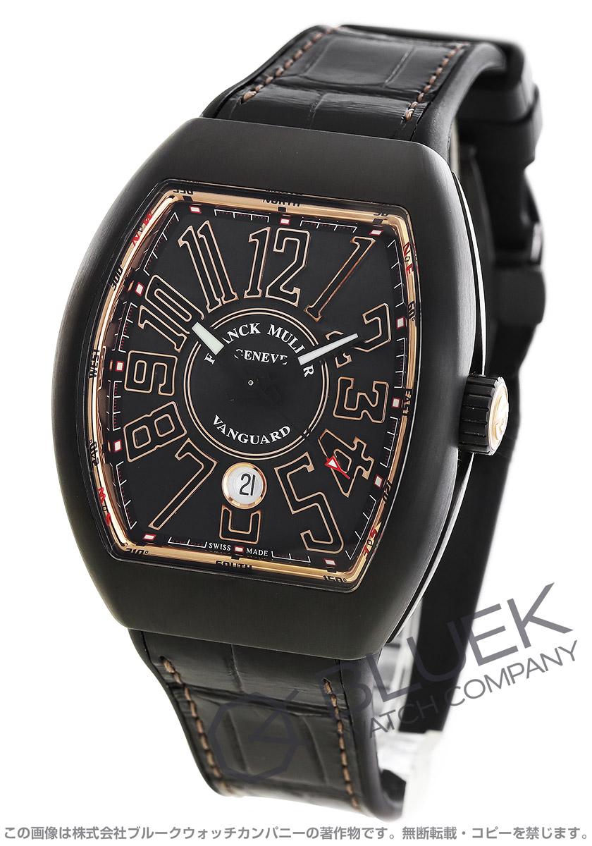 フランクミュラー ヴァンガード クロコレザー 腕時計 メンズ FRANCK MULLER V45 SC DT TT NR BR 5N