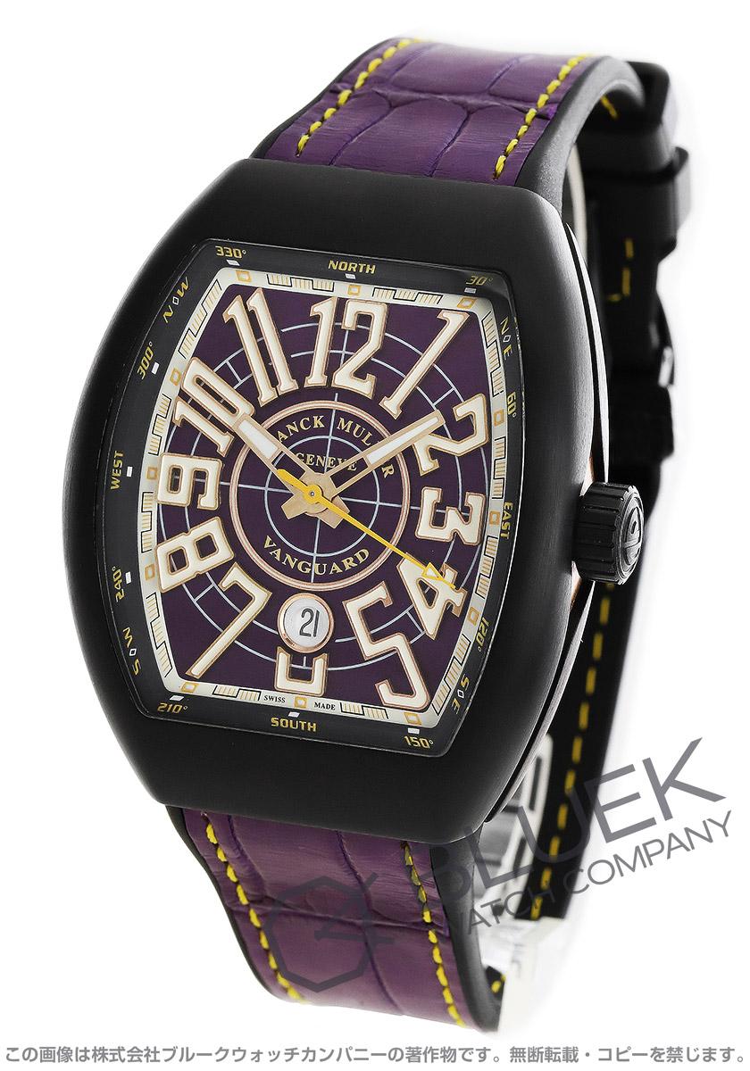 フランクミュラー ヴァンガード クロコレザー 腕時計 メンズ FRANCK MULLER V45 SC DT CIR TT NR BR VL[FMV45SCTINRVLLZVL]