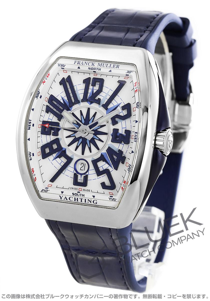 フランクミュラー ヴァンガード ヨッティング クロコレザー 腕時計 メンズ FRANCK MULLER V 45 SC DT AC BL YACHTING[FMV45SCYTPLSSWHLZBL]