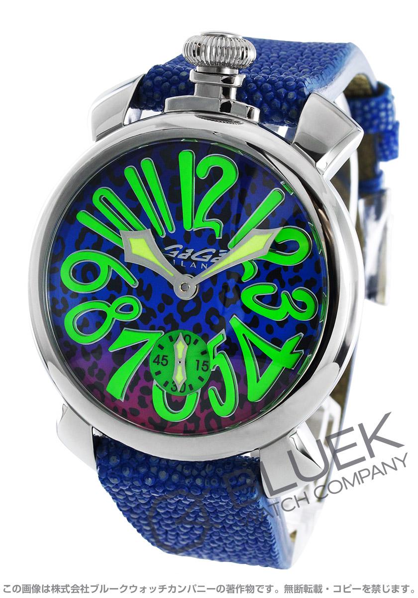 ガガミラノ マヌアーレ48MM アニマーレ 限定300本 ガルーシャレザー 腕時計 メンズ GaGa MILANO 5010 ART 03S