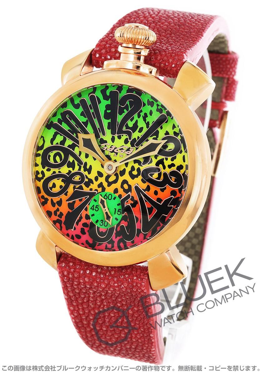 ガガミラノ GaGa MILANO 腕時計 マヌアーレ48MM アニマーレ 限定300本 ガルーシャレザー メンズ 5011ART.02S