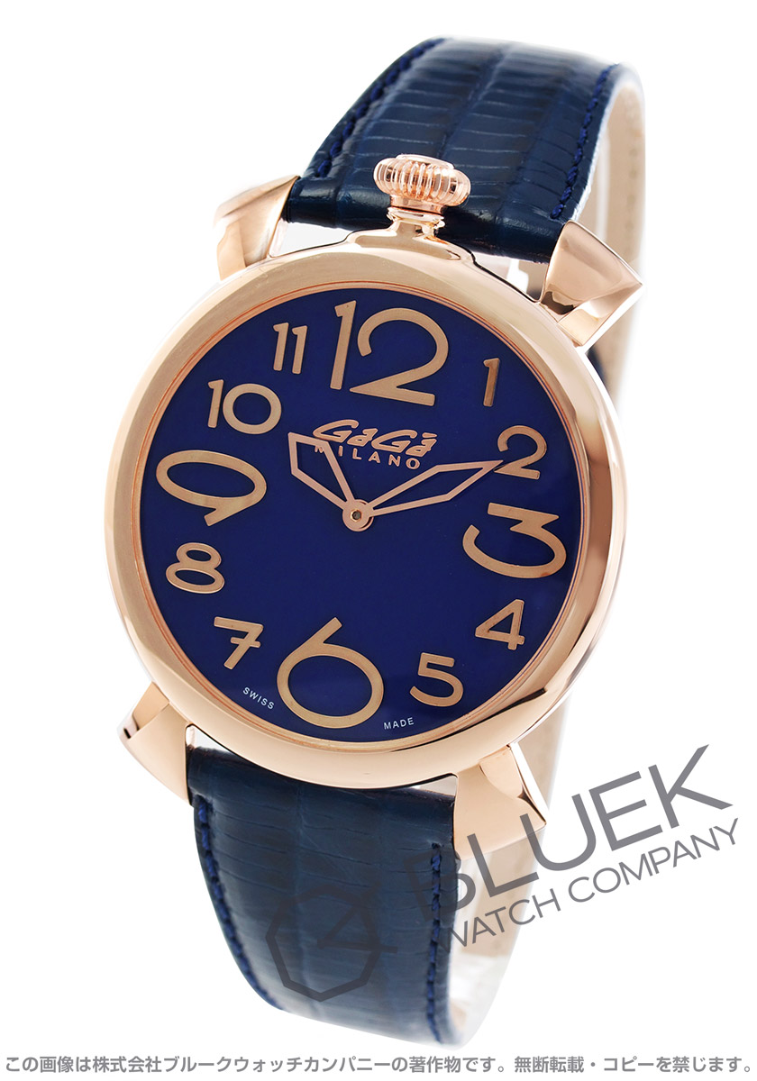 ガガミラノ GaGa MILANO 腕時計 マヌアーレ シン46MM リザードレザー ユニセックス 5091.07