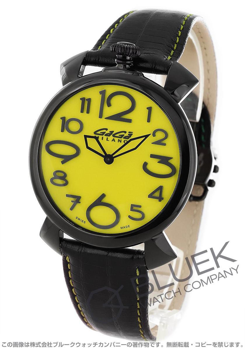 ガガミラノ マヌアーレ シン46MM リザードレザー 腕時計 メンズ GaGa MILANO 5092.04
