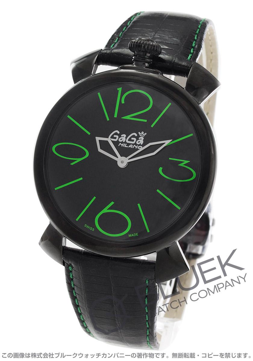 ガガミラノ GaGa MILANO 腕時計 マヌアーレ シン46MM リザードレザー ユニセックス 5092.02