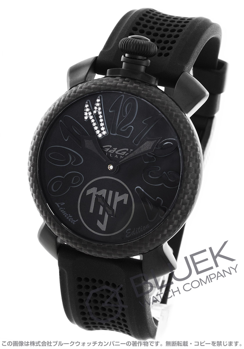 buy popular 4654b a40f6 ガガミラノ マヌアーレ48MM ネイマールモデル 世界限定500本 ダイヤ 腕時計 メンズ GaGa MILANO 5516.NJ.01D