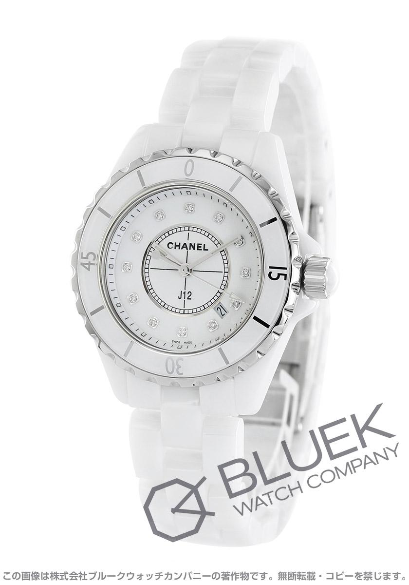 シャネル J12 ダイヤ 腕時計 レディース CHANEL H1628
