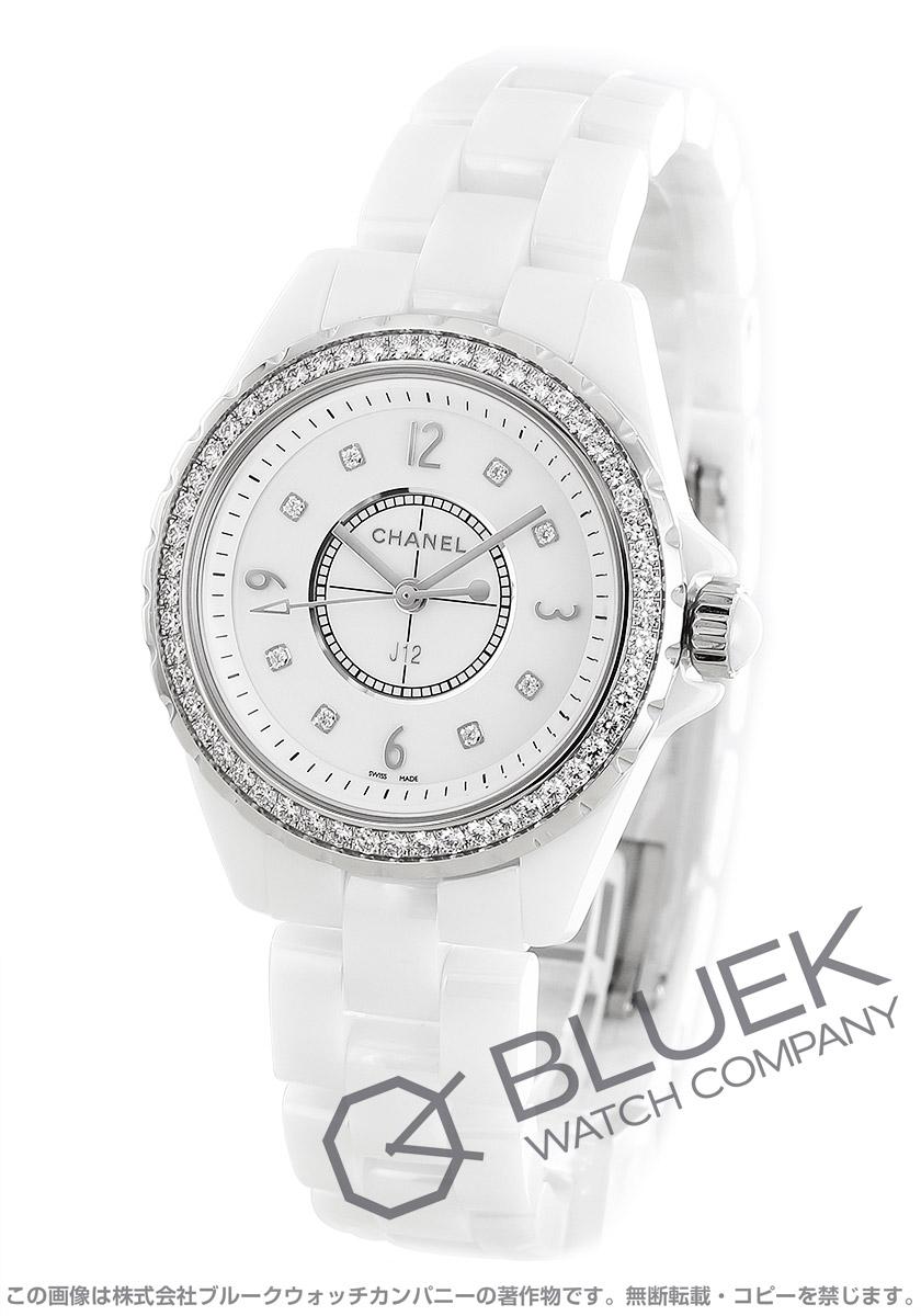 シャネル J12 ダイヤ 腕時計 レディース CHANEL H3110