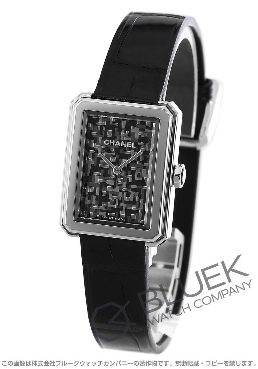best sneakers beec1 e285e シャネル ボーイフレンド ネオ ツイード 世界限定1000本 アリゲーターレザー 腕時計 レディース CHANEL H6127