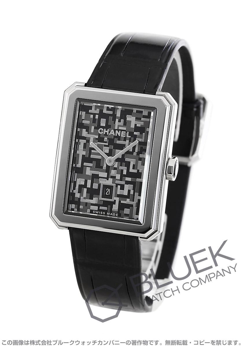 シャネル ボーイフレンド ネオ ツイード 世界限定1000本 アリゲーターレザー 腕時計 レディース CHANEL H6128