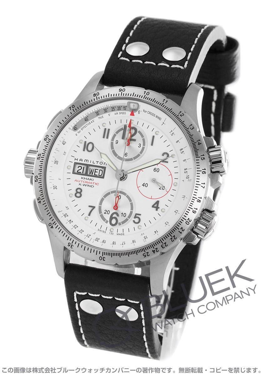 ハミルトン カーキ アビエーション X-ウィンド クロノグラフ 腕時計 メンズ HAMILTON H77656713