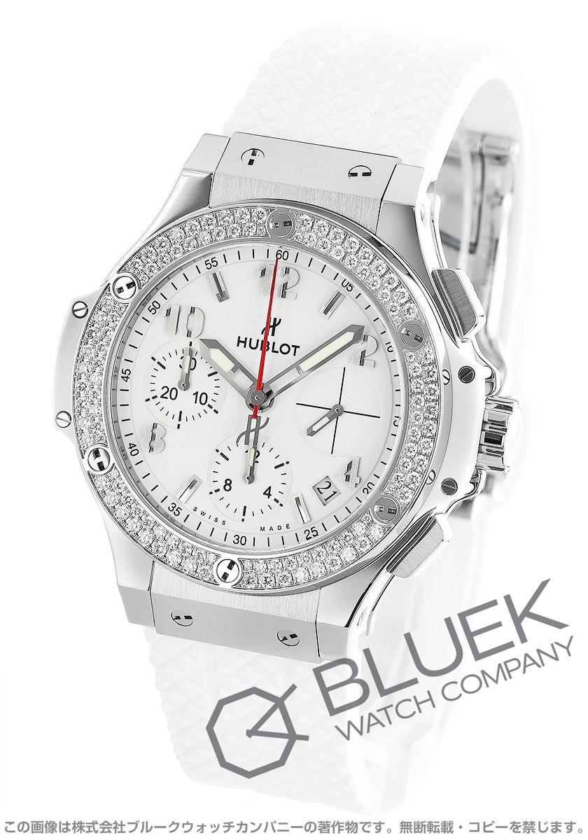 ウブロ ビッグバン スチールホワイト クロノグラフ ダイヤ 腕時計 ユニセックス HUBLOT 342.SE.230.RW.114-N