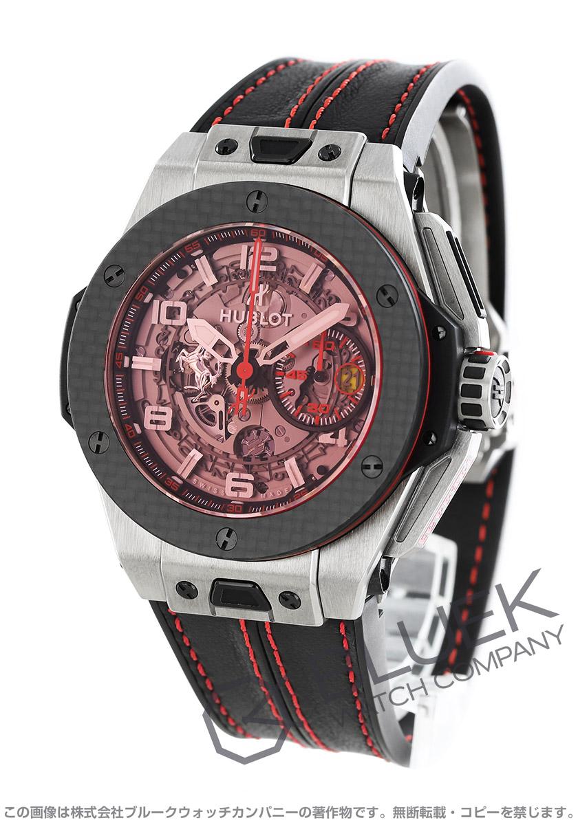 ウブロ ビッグバン フェラーリ チタニウム 世界限定1000本 クロノグラフ 腕時計 メンズ HUBLOT 401.NQ.0123.VR
