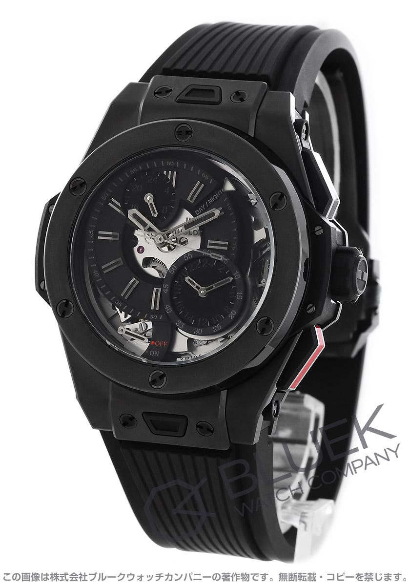 ウブロ ビッグバン アラーム リピーター オールブラック 世界限定100本 GMT 腕時計 メンズ HUBLOT 403.CI.0140.RX