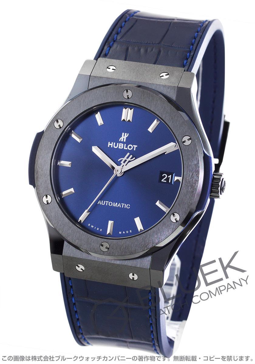 online store a7a51 d6203 ウブロ クラシック フュージョン セラミックブルー アリゲーターレザー 腕時計 メンズ HUBLOT 511.CM.7170.LR