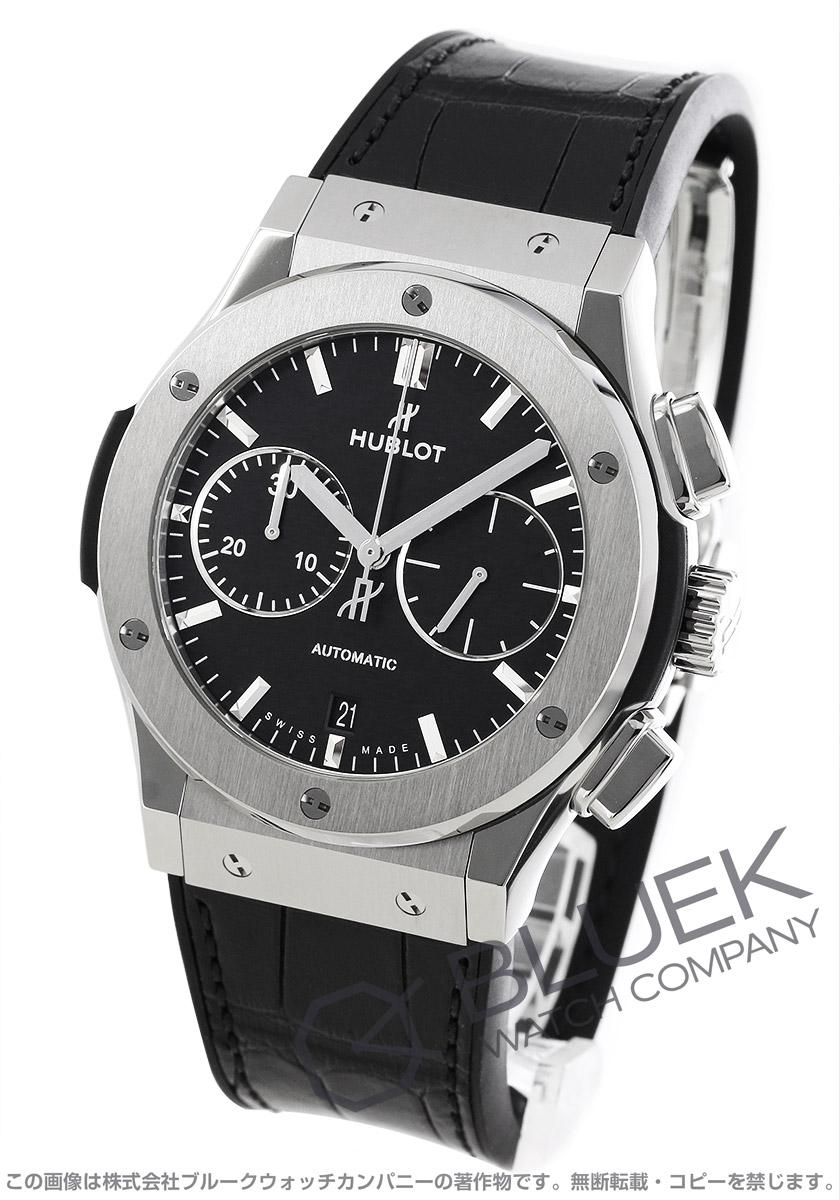brand new 8fa0c 9bab8 ウブロ クラシック フュージョン チタニウム クロノグラフ アリゲーターレザー 腕時計 メンズ HUBLOT 521.NX.1171.LR