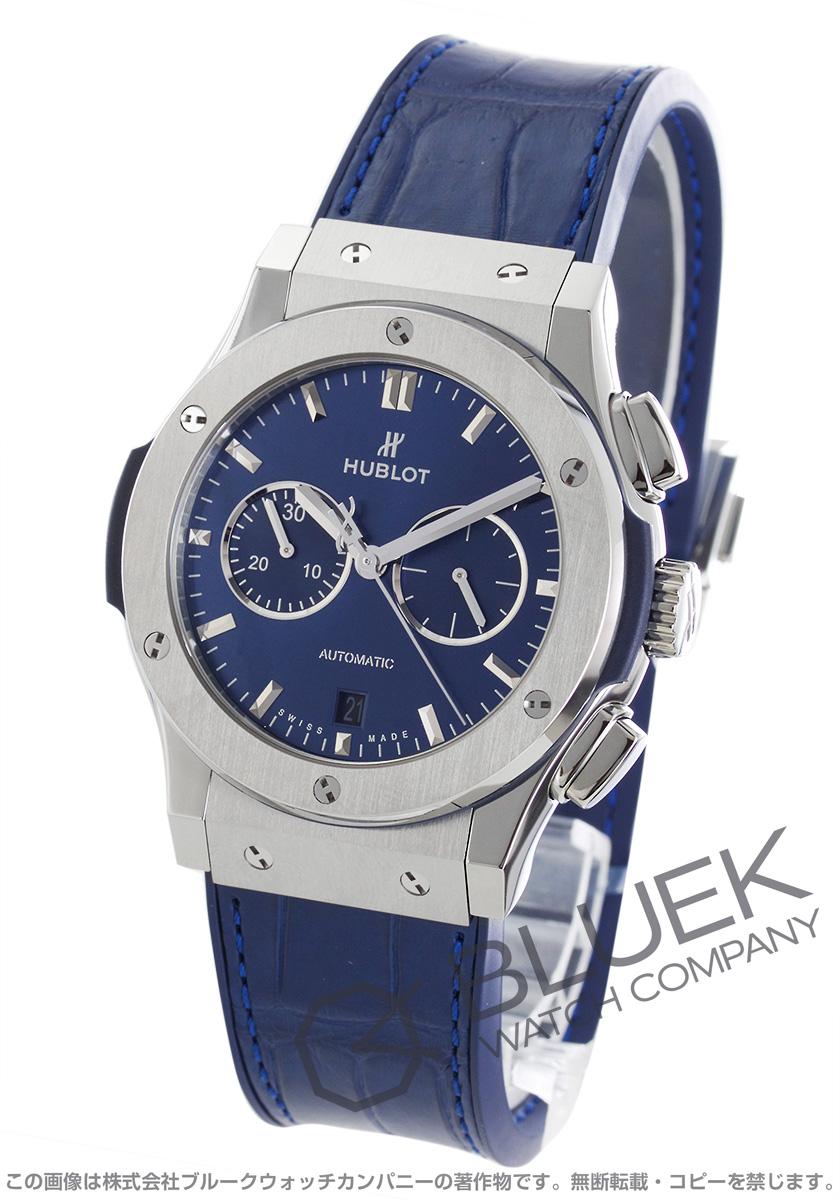online retailer 637de e3292 ウブロ クラシック フュージョン チタニウム クロノグラフ アリゲーターレザー 腕時計 メンズ HUBLOT 541.NX.7170.LR