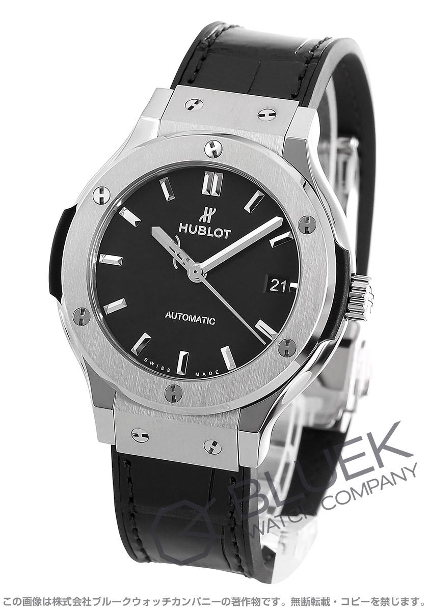 buy popular 173a3 2817b ウブロ クラシック フュージョン チタニウム アリゲーターレザー 腕時計 ユニセックス HUBLOT 565.NX.1171.LR
