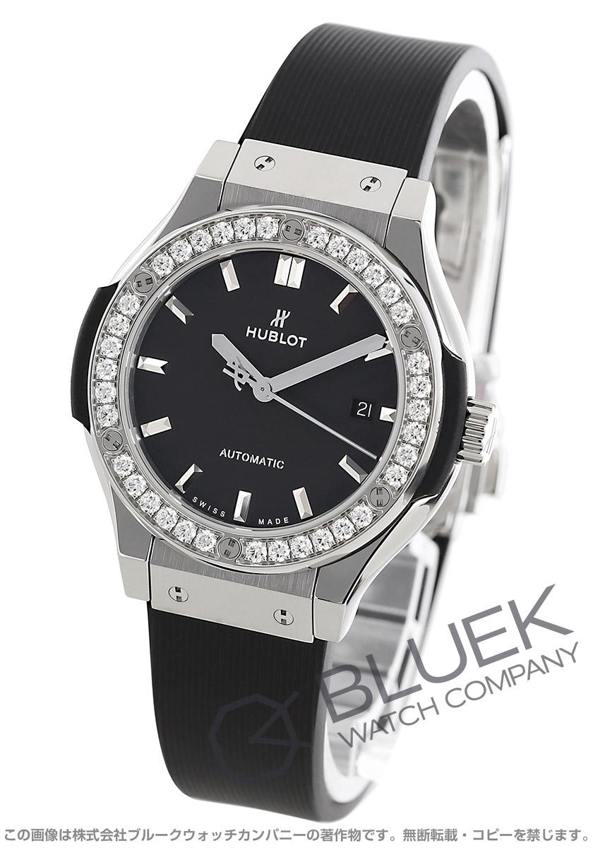 low priced 6f5c6 58597 ウブロ クラシック フュージョン チタニウム ダイヤ 腕時計 レディース HUBLOT 582.NX.1170.RX1204
