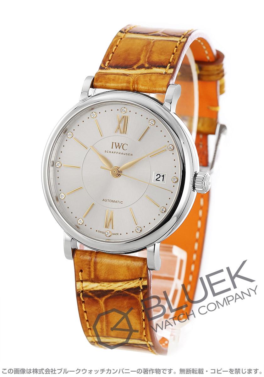 IWC ポートフィノ ダイヤ アリゲーターレザー 腕時計 ユニセックス IWC IW458101