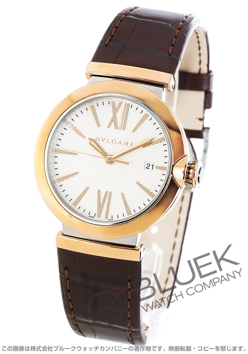 ブルガリ ルチェア アリゲーターレザー 腕時計 メンズ BVLGARI LU40C6SPGLD