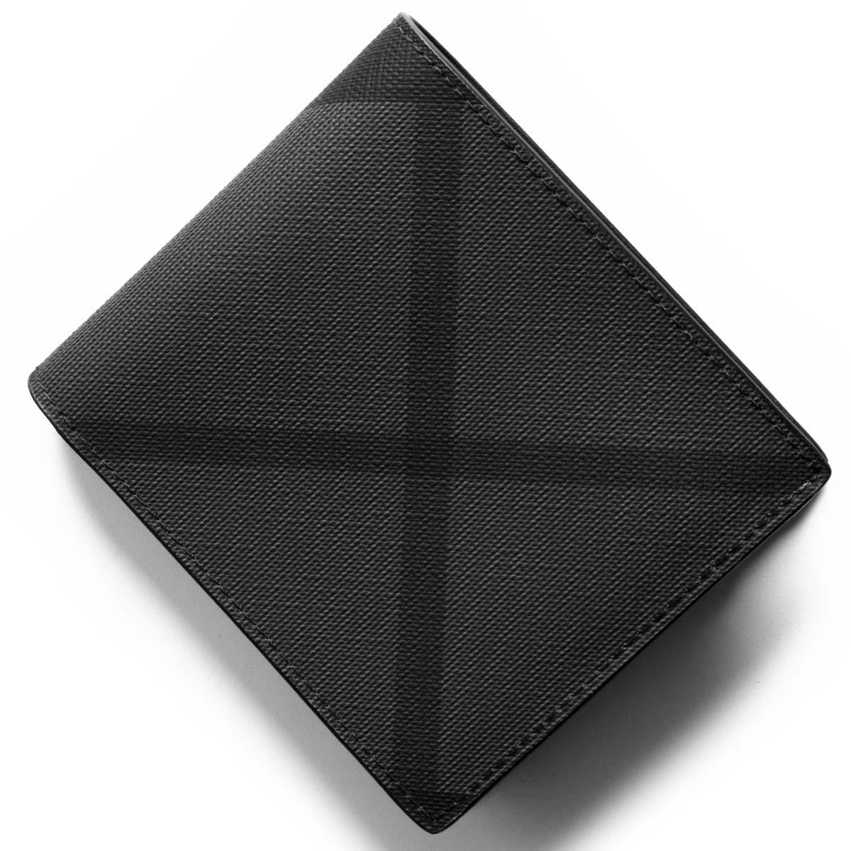 size 40 30376 df0f6 バーバリー 二つ折り財布 財布 メンズ シーシービル ロンドンチェック チャコールグレー&ブラック 8006028 A1008 BURBERRY