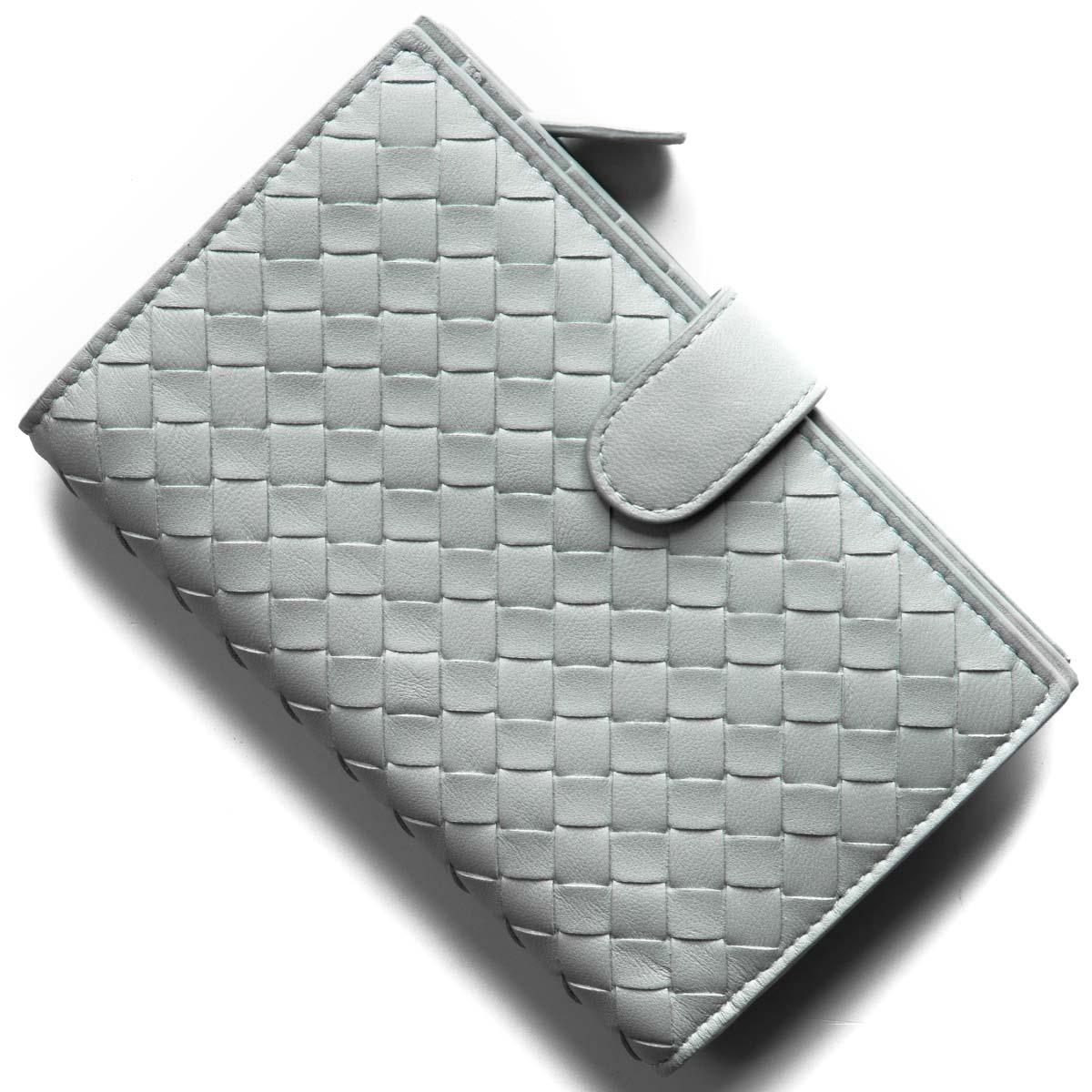 new concept 1c0cf d51bd ボッテガヴェネタ (ボッテガ・ヴェネタ) 二つ折り財布 財布 レディース イントレチャート ナッパ アンティークブルー 121060 V001N  4916 BOTTEGA VENETA