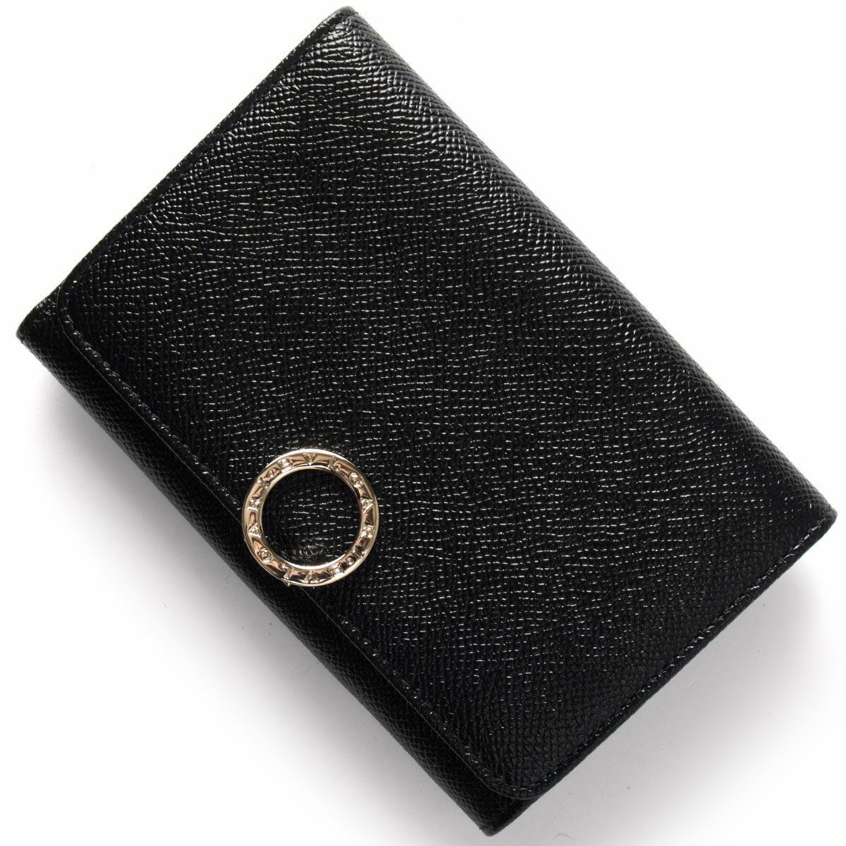 on sale d6582 ae5e7 ブルガリ 二つ折り財布 財布 レディース ブルガリブルガリ レザー ブラック 280555 BVLGARI