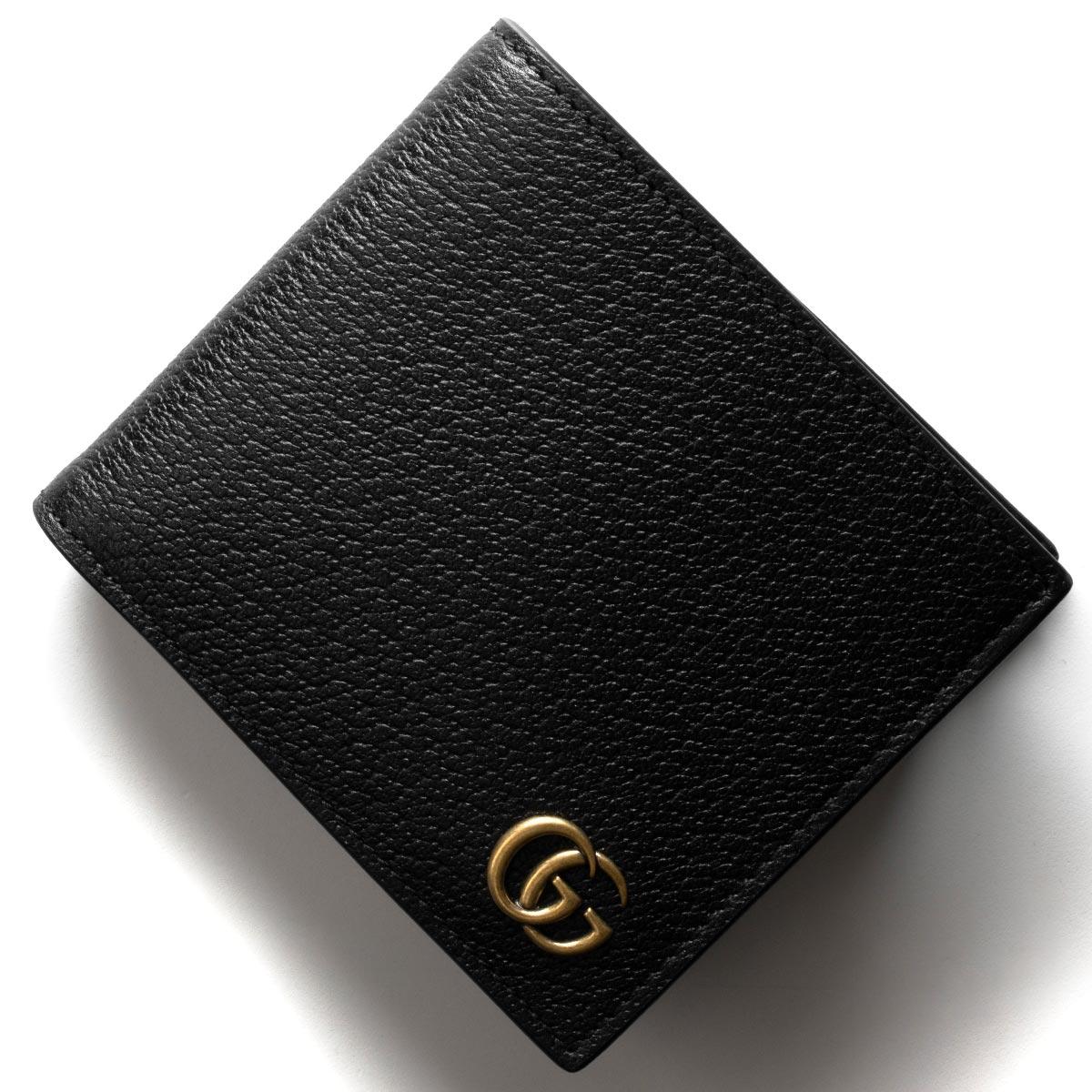 142912e175d6 グッチ 二つ折財布 財布 メンズ GGマーモント ブラック 428725 DJ20T 1000 GUCCI