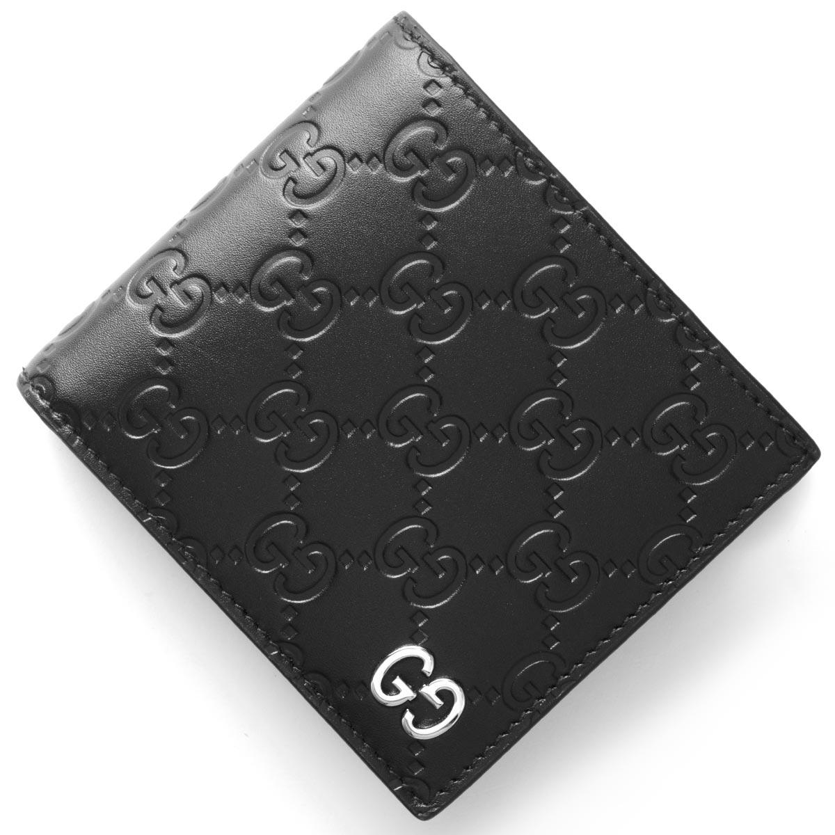 premium selection e9086 52271 グッチ 二つ折り財布 財布 メンズ ドリアン GGシグネチャー DORIAN GG SIGNATURE ブラック 473922 CWC1N 1000  GUCCI