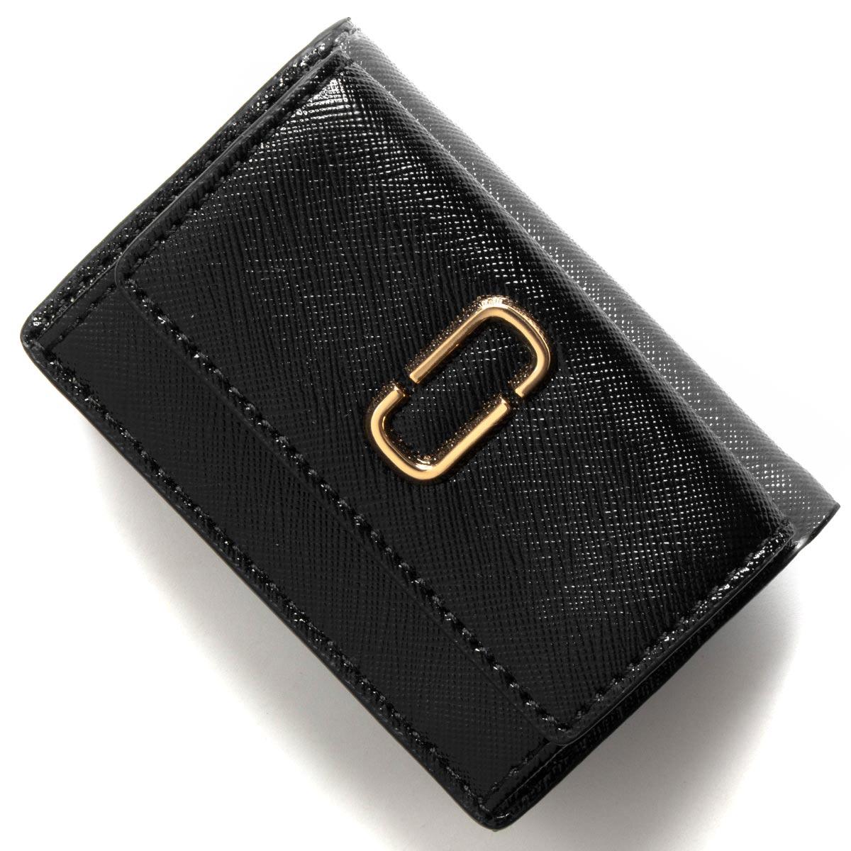 6a3392cea158 マークジェイコブス 三つ折り財布/ミニ財布 財布 レディース スナップショット ダブルJロゴ ブラック