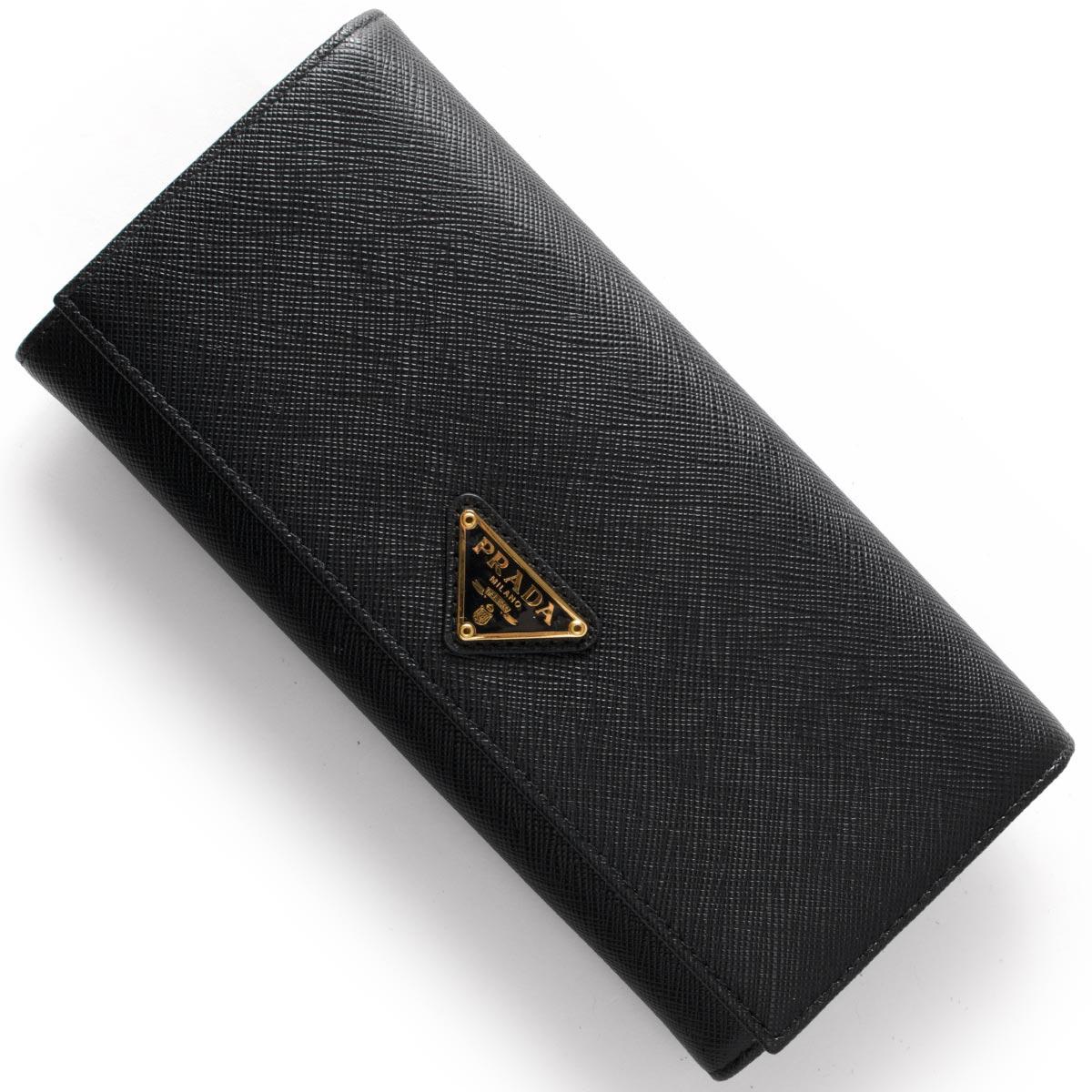 985685ed17b8 プラダ PRADA 長財布 SAFFIANO TRIANG 三角ロゴプレート ブラック 1MH132 QHH F0002 メンズ