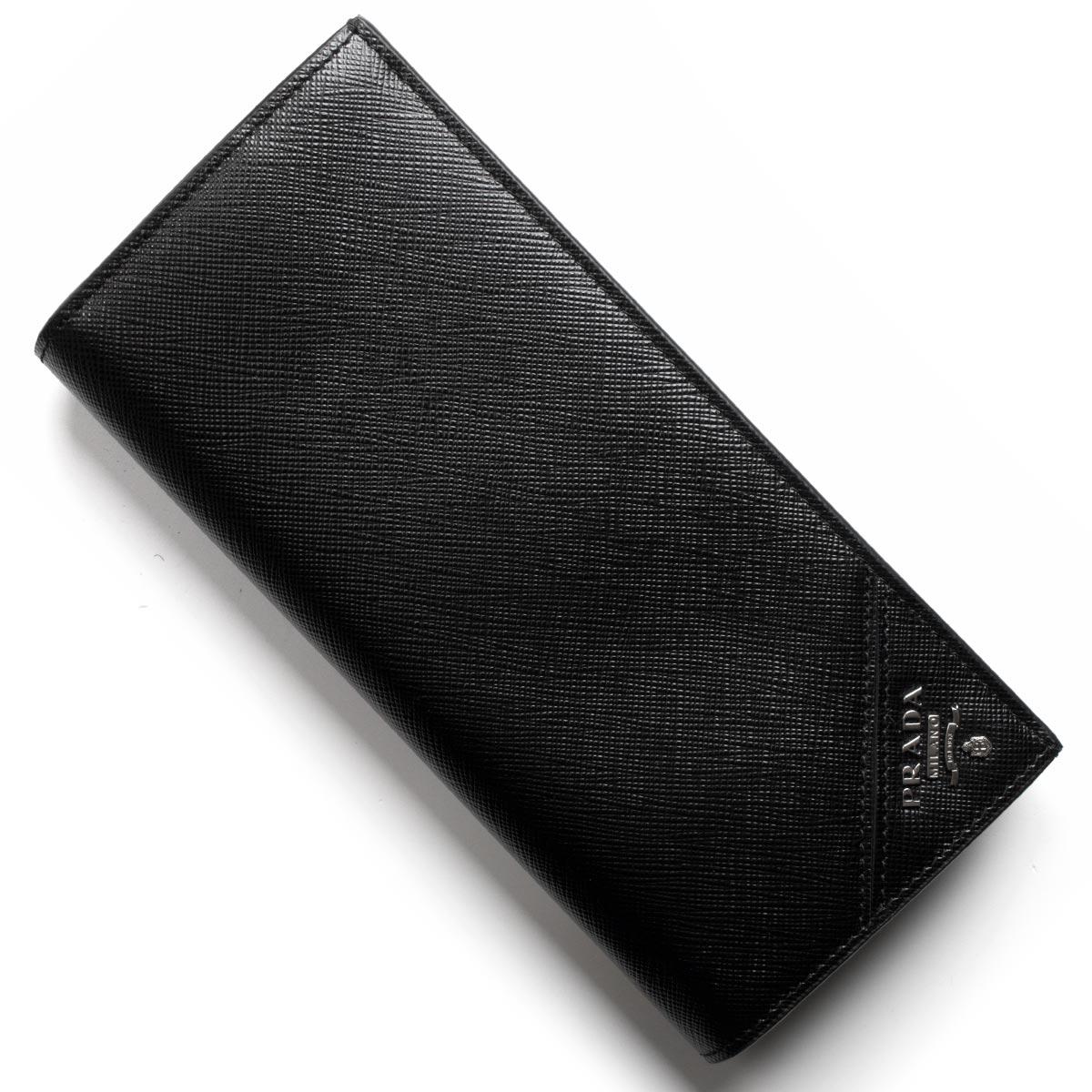 78a87a555de4 プラダ PRADA 長財布 サフィアーノ メタル/SAFFIANO METAL ブラック 2MV836 QME F0002 メンズ