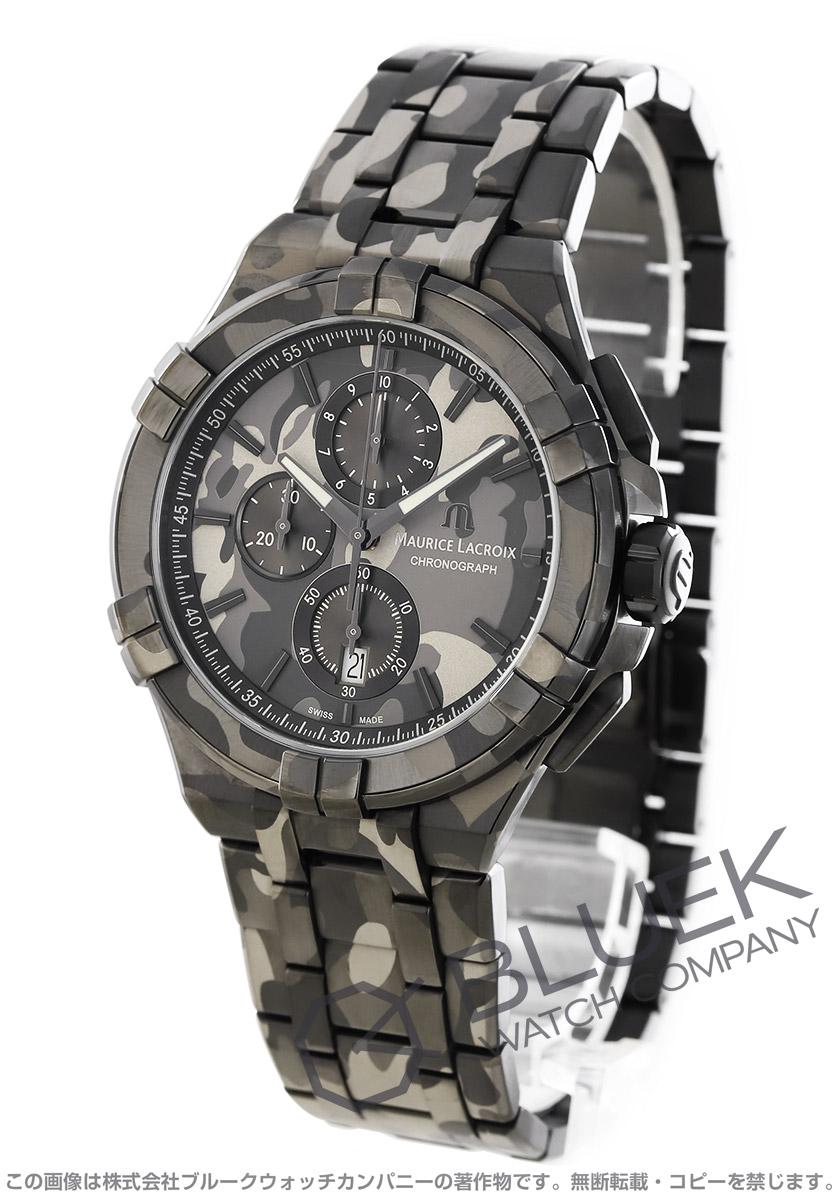モーリス・ラクロア アイコン カモフラージュ 世界限定500本 クロノグラフ 替えベルト付き 腕時計 メンズ MAURICE LACROIX AI1018-PVB02-336-2
