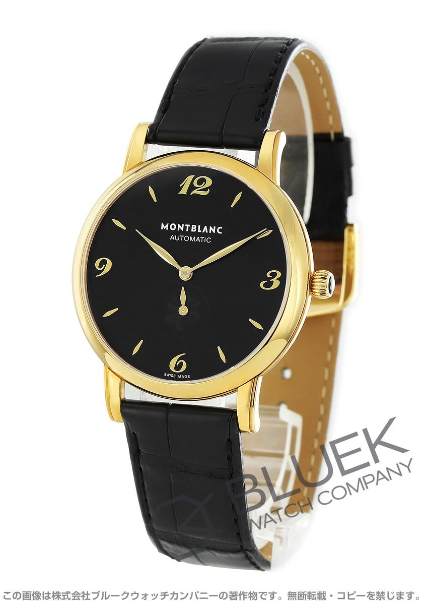 モンブラン MONTBLANC 腕時計 スター YG金無垢 アリゲーターレザー メンズ 107340