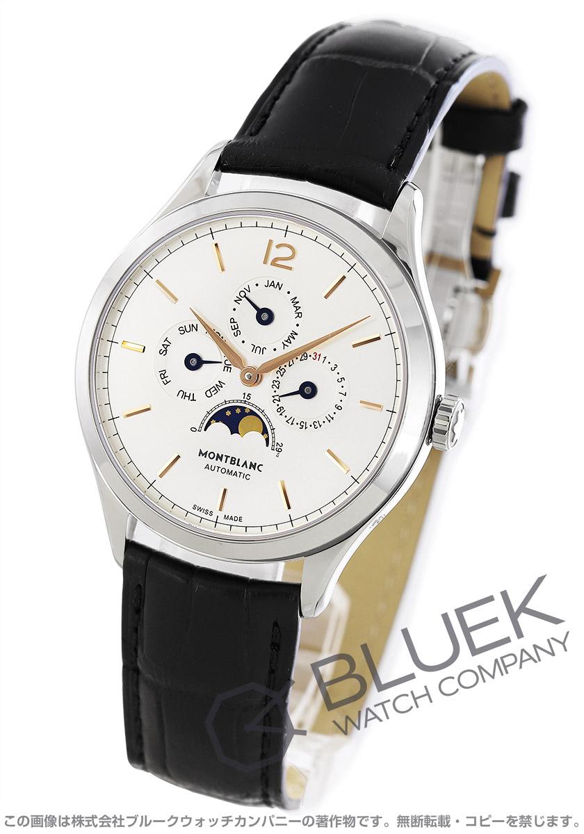モンブラン ヘリテイジ クロノメトリー カンティエーム アニュアル ムーンフェイズ アリゲーターレザー 腕時計 メンズ MONTBLANC 112534