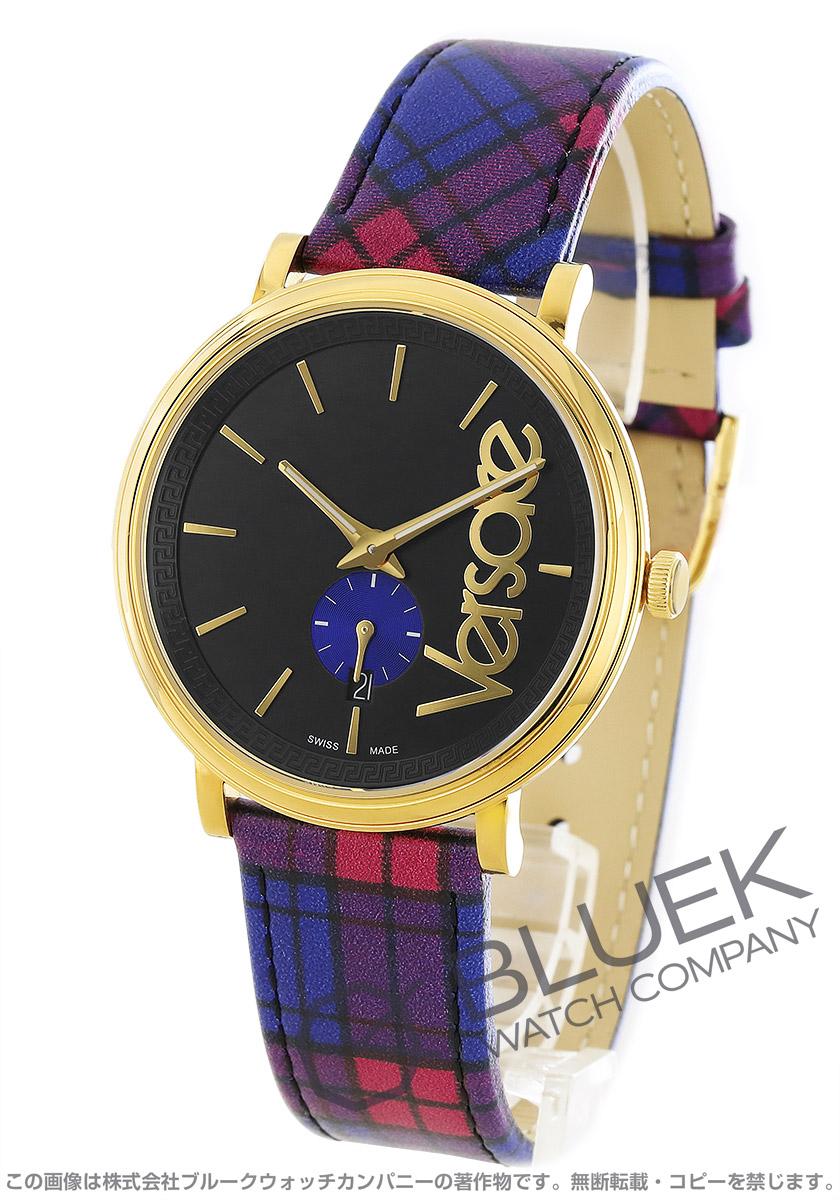 ヴェルサーチ V-サークル タータン 腕時計 ユニセックス VERSACE VEBQ00218