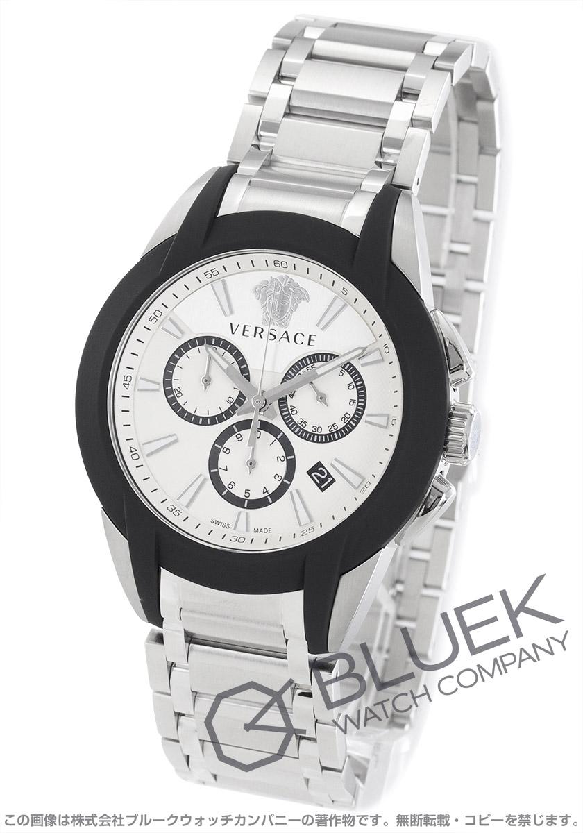 9bf4142ff4 ヴェルサーチ キャラクター クロノ クロノグラフ 腕時計 メンズ VERSACE VEM800118