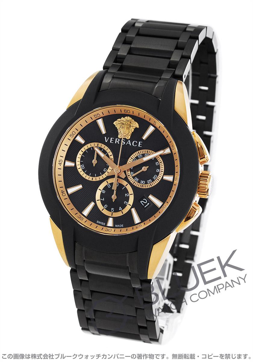 df0efc24cd ヴェルサーチ キャラクター クロノ クロノグラフ 腕時計 メンズ VERSACE VEM800418