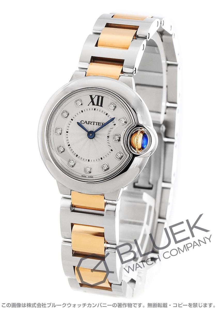 カルティエ バロンブルー ドゥ カルティエ ダイヤ 腕時計 レディース Cartier WE902030