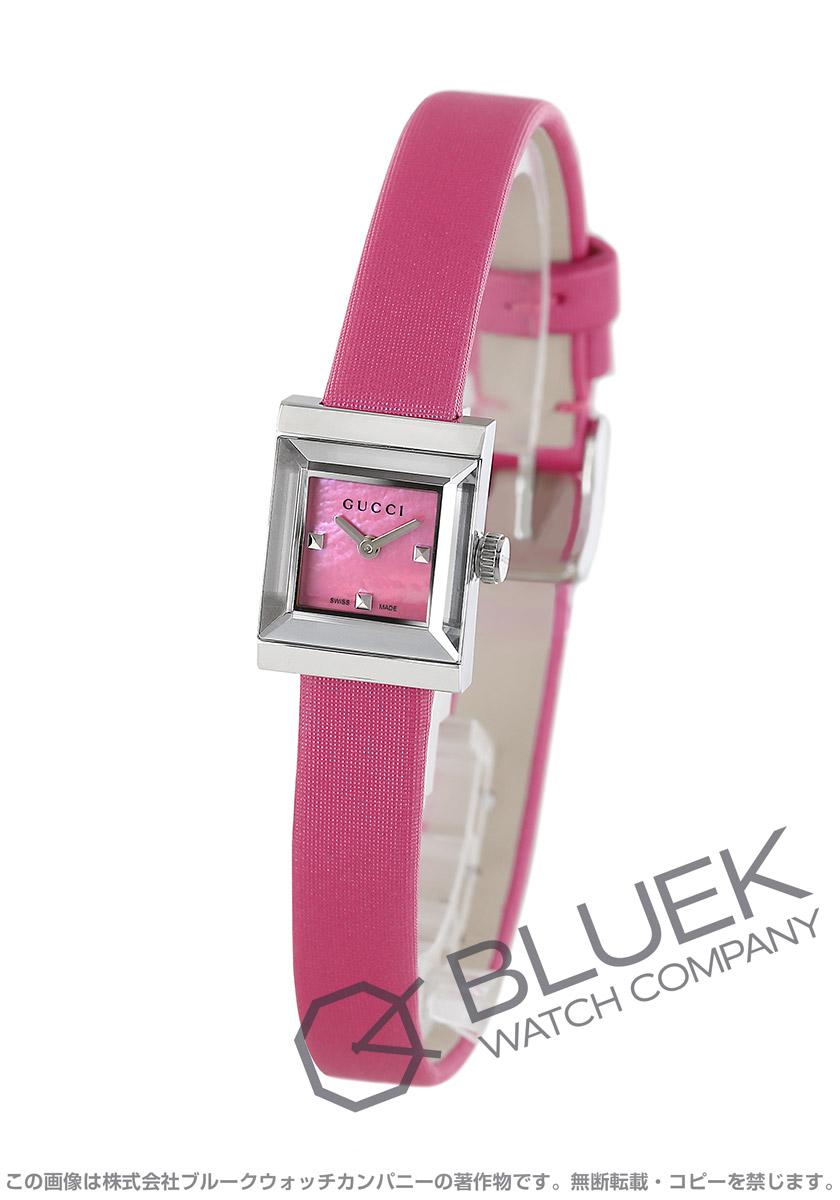 グッチ Gフレーム スクエア サテンレザー 腕時計 レディース GUCCI YA128533