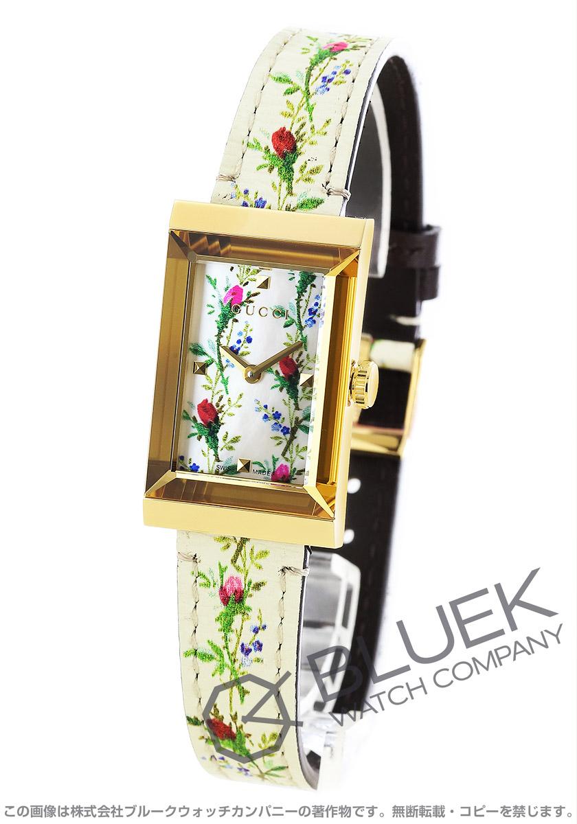 グッチ Gフレーム フローラル マザー オブ パール 腕時計 レディース GUCCI YA147407