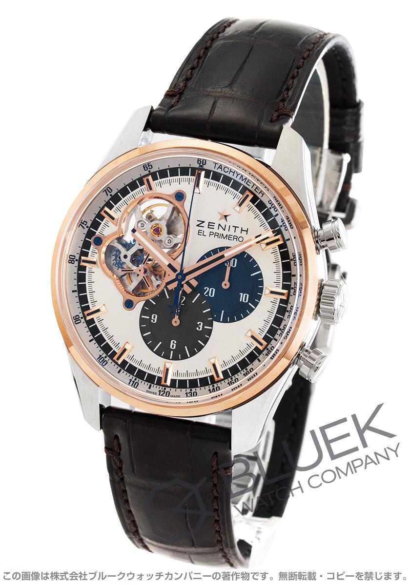 d9d422a251 ゼニス エル プリメロ クロノマスター オープン 1969 クロノグラフ アリゲーターレザー 腕時計 メンズ Zenith 51.2080.