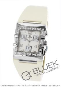 オメガ コンステレーション クアドラ クロノグラフ ダイヤ サテンレザー 腕時計 レディース OMEGA 1847.35.71