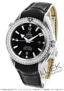 オメガ シーマスター プラネットオーシャン 600m防水 ダイヤ アリゲーターレザー 腕時計 メンズ OMEGA 222.18.46.20.01.001