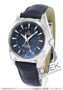 オメガ シーマスター アクアテラ GMT アリゲーターレザー 腕時計 メンズ OMEGA 231.13.43.22.03.001