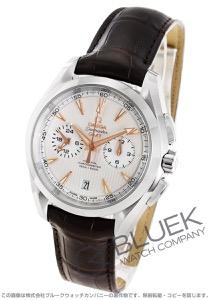 オメガ シーマスター アクアテラ クロノグラフ GMT アリゲーターレザー 腕時計 メンズ OMEGA 231.13.43.52.02.001