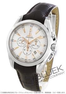 オメガ シーマスター アクアテラ クロノグラフ アリゲーターレザー 腕時計 メンズ OMEGA 231.13.44.50.02.001